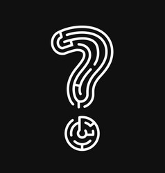 question as a maze vector image vector image