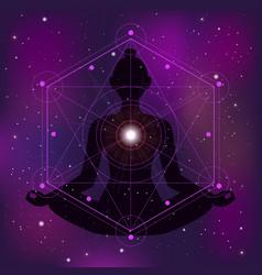 Sacred geometry zen vector