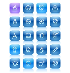 Stencil blue buttons for science vector image vector image