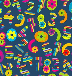 Abstract background with cartoon numbers vector image