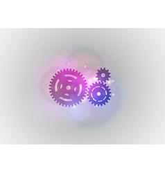 abstract tech cogwheel vector image vector image