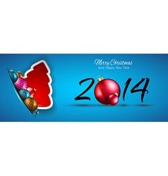 ChristmasBluLONG vector image vector image