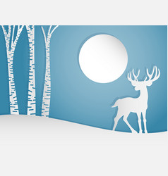 deer on the hill vector image vector image