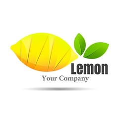 Half of lemon icon Isolated object Healthy food vector image