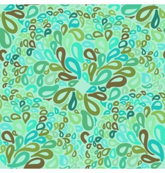 Moroccan tiles ornaments in blue and green colors vector image