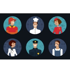 People profession occupation Firefighter cooker vector image