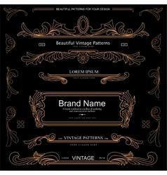 Retro vintage patterns vector image vector image