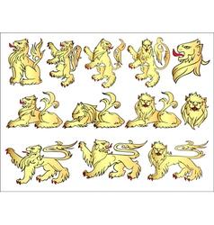 Set of heraldic symbols vector