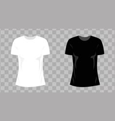 1 white t shirt 33 woman vector image