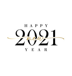 2021 new year calligraphy vector image