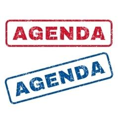 Agenda rubber stamps vector