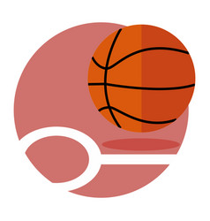 basketball game emblem sport graphic vector image