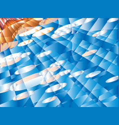 blurred pseudo polygons on blue summer sky vector image