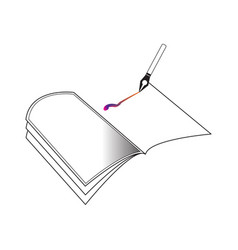 book outline with pen suitable for education vector image