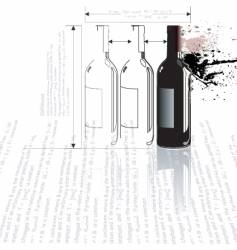 Bottle collision vector