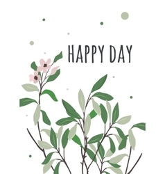 bright postcard with a good day vector image vector image