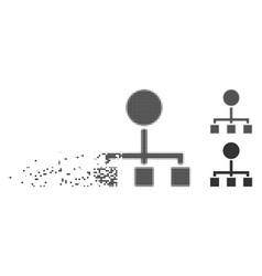 broken pixel halftone hierarchy icon vector image