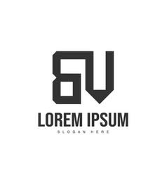 bv letter logo design initial letter logo template vector image