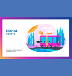 cheap bus tickets concept vector image