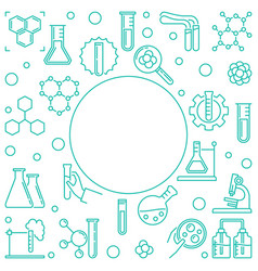 chemical outline with round vector image