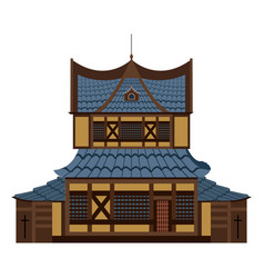 Chinese castle image vector