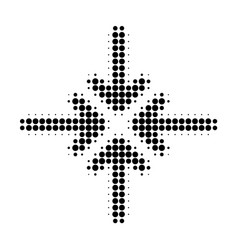 collapse arrows halftone dotted icon vector image