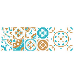 collection of decorative square tiles with various vector image