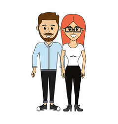 Couple happy and together icon vector