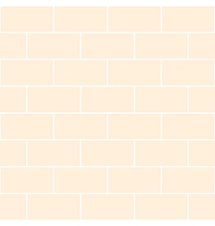 Cream Brick Wall vector image