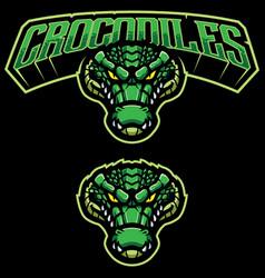 crocodiles mascot logo vector image