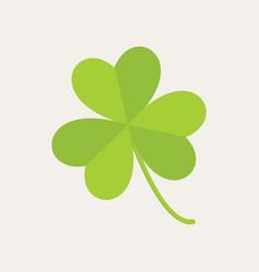 Cute three leaf clover graphic vector