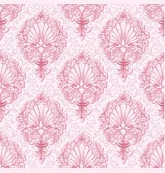 damask seamless pattern background vector image