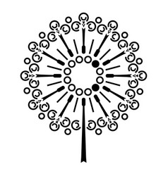 dandelion flower icon simple style vector image