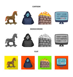 Design of virus and secure icon set vector