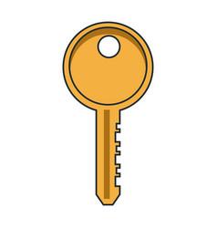 door key isolated vector image