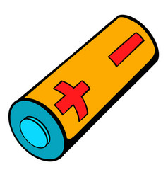 electronic cigarette battery icon cartoon vector image
