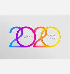 elegant card for happy 2020 new year vector image
