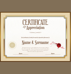 Elegant certificate or diploma retro vintage vector