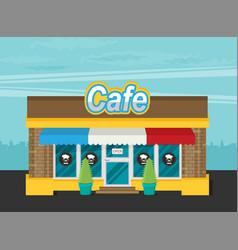 facade of cafe flat vector image