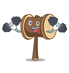 Fitness mallet character cartoon style vector