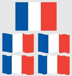 Flat and Waving Flag Of France vector image