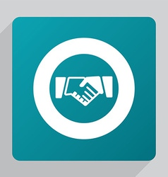 Flat Handshake icon vector