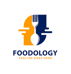 Food technology logo design vector