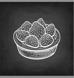 Fruit tart with fresh strawberry vector