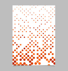 Geometric dot pattern poster template vector