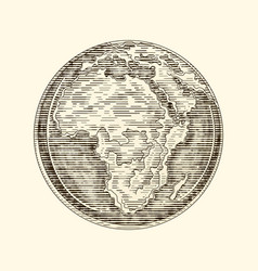 globe earth africa a continent vintage vector image
