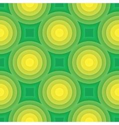 Green circle seamless pattern vector image