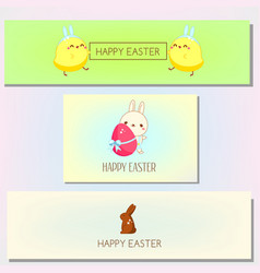 happy easter banner template collection set of vector image