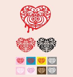 heart decoration vector image