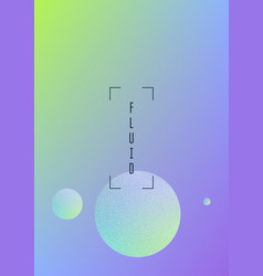 holographic fluid with radial circles vector image